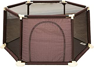 JXXDDQ Kids Play Fence Baby Safety Fence Children's Playground (Color : Brown)