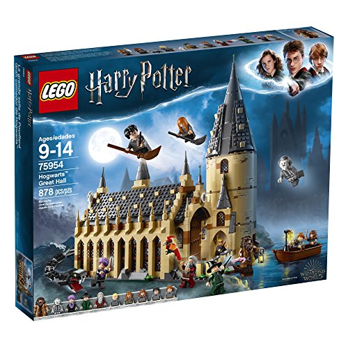 LEGO Harry Potter Hogwarts Great Hall 75954 Building Kit and Magic Castle Toy, Fantasy Creatures, Hermione Granger, Draco Malfoy and Hagrid (878 Pieces)