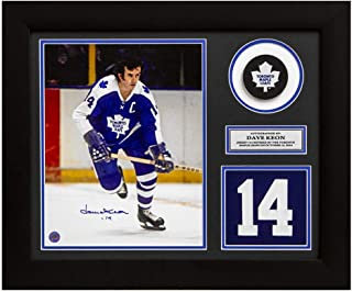 Dave Keon Autographed Jersey - Captain Retired Number 20x24 Frame - Autographed NHL Jerseys
