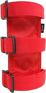 VXAR Fire Extinguisher Holder Canvas Adjustable Roll Bar Mounted for Jeep Wrangler (Red)