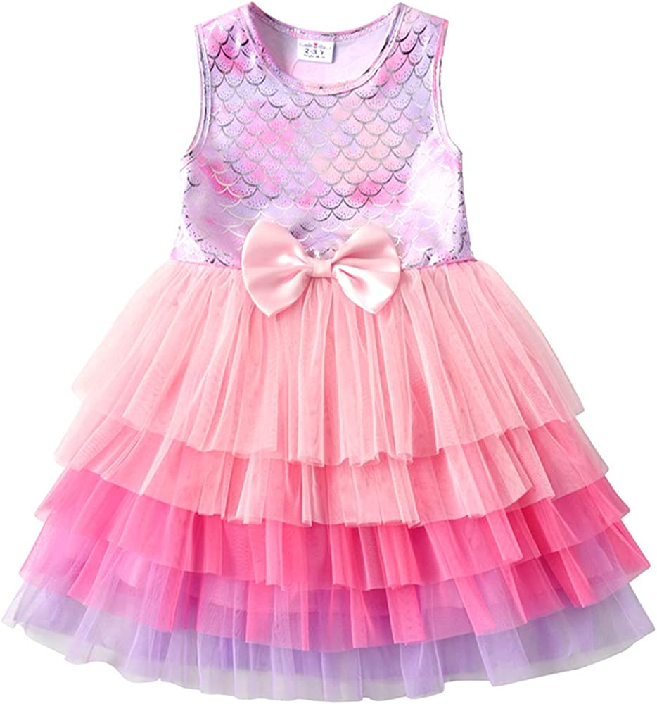 VIKITA Casual Polyester Dresses Toddler Girls 2-8 Years