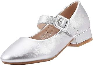 EIGHT KM EKM7010 Girls Mary Jane Low Heel Plain Court Shoes
