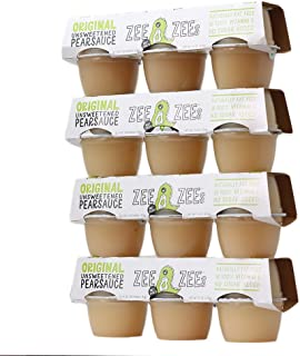 Zee Zees Pearsauce Cups, Unsweetened, All Natural, Made With Pears, No Sugar Added, 4 oz Cups, 24 pack