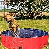 dibea Piscina plegable para perros bañera para perros piscina mascotas (S) Ø 80 cm