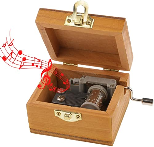 Electomania Wood Musical Box Music Box Hand Cranked Musical Box Wooden Classic Music Box Tune Castle in The Sky
