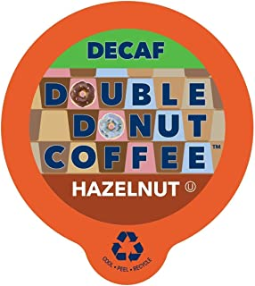 Double Donut Coffee Decaf Hazelnut Flavored Coffee Single Serve Cups For Keurig K Cup Brewer (96 count)