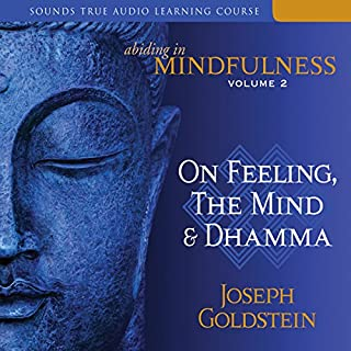 Abiding in Mindfulness, Volume 2     On Feeling, the Mind, and Dhamma              By:                                                                                                                                 Joseph Goldstein                               Narrated by:                                                                                                                                 Joseph Goldstein                      Length: 10 hrs and 35 mins     302 ratings     Overall 4.8