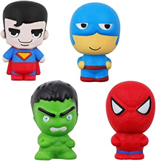 POKONBOY Jumbo Squishies Squishy Toys - 4 Pack Upgraded Big Squishies Slow Rising Toys for Boys Girls Kids Stress Relief Toy Christmas Party Suppliess Decorations