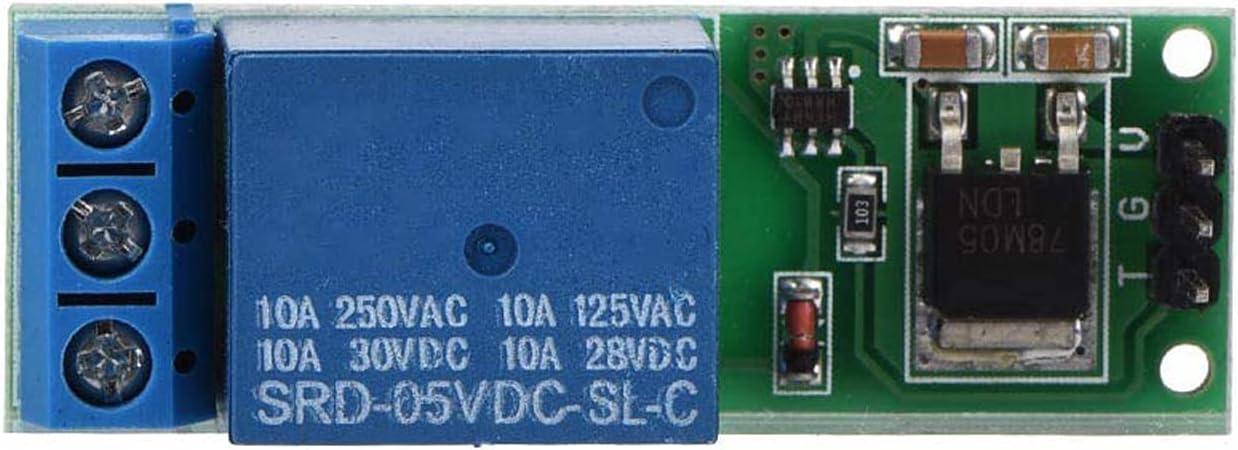 Mini tablero de disparo de 6-24 V, módulo de relé de pestillo abatible, interruptor de bloqueo automático biestable, disparador de pulso bajo
