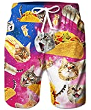 Swimsuit Men Taco Cat Swim Truks Funny Space Galaxy Cat Swimming...