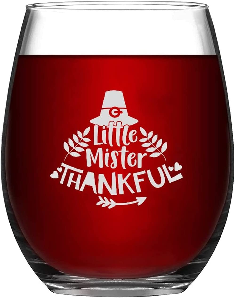 Stemless Wine Glasses Inexpensive Little Mister Engraved Thankful Al sold out. Laser Glas