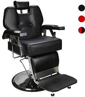 BarberPub Heavy Duty Recline Barber Chair All Purpose Hydraulic Salon Chairfor Hair Stylist Spa Beauty Shampoo Equipment 2801(Black)
