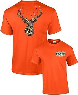 Mossy Oak Camoflage Deer Head Men`s Hunting T-Shirt