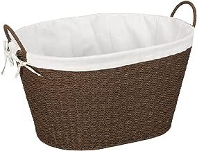 Household Essentials Wicker Laundry Basket, Brown