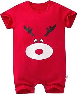Newborn Baby Boys Girls Short Sleeve Jumpsuit Infant Cartoon Romper Bodysuit Playsuit One Piece Outfits for 0-24M