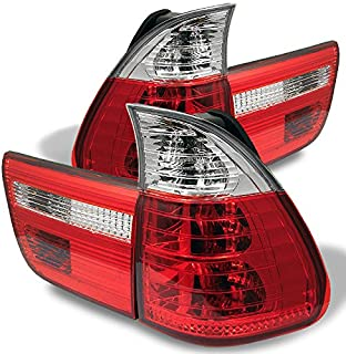For 00-06 BMW E53 X5 SUV Red Clear Rear Tail Light Brake Lamps 4pcs Replacement Pair Left + Right