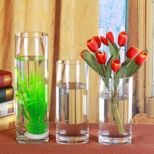 ZHFC-vase en verre transparent tout atterrissage grand mariage decor décoration vase en verre d'eau d'aquarium,calibre 20 cm de hauteur au moins 40 cm