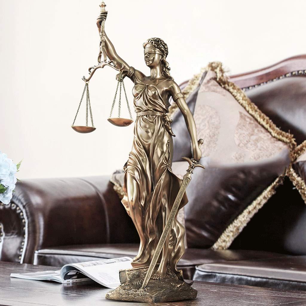 Estatua de Justicia Ciega Doblada Ciega En Bronce Fundido - Diosa ...