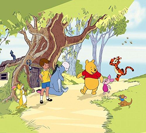 Winnie The Pooh - Amigos, Christopher Robin, Puerquito, Tigger E Ígor Cortina (180 x 160cm)