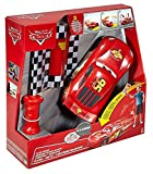 Cars 2 Rayo Mcqueen Carreras y derrapes, Color Rojo/Negro, (Mattel DPL07)