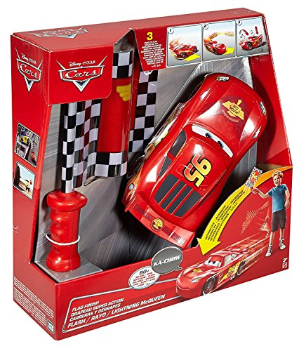 Cars 2 Cars 2-DPL07 Rayo Mcqueen Carreras y derrapes, Color Rojo/Negro, (Mattel DPL07)