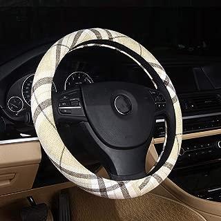 DuoDuoBling Boho Cloth Steering Wheel Cover for Women Men 2019 e46 (Grid)