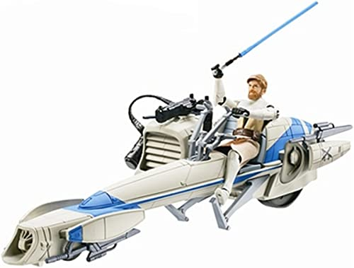 Star Wars Clone Wars Vehicle & Figure Speeder Bike & Obi-Wan (japan import)