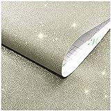 ZZFF Sparkly Glitter Auto-Adhesivo Documento De Contacto,Color Sólido Peel and Stick Papel Pintado,Vinilo Bling Revestimientos,Decorativo Sticker para Navidad Mueble Regalo B 300x45cm(118x18inch)