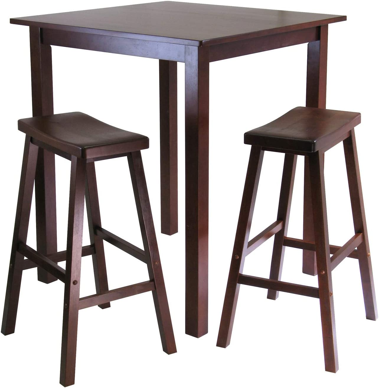 Winsome Parking 3-pc Weekly update Pub Walnut Dining Set latest Table