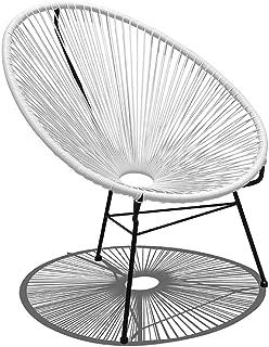 Harmonia Living Acapulco Lounge Chair, White Lightning