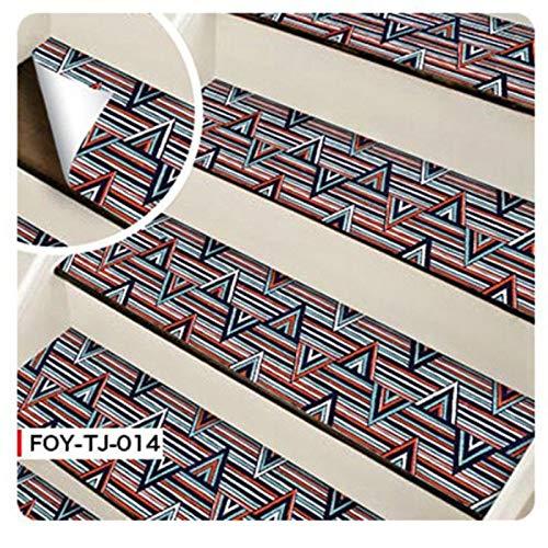 6 pegatinas autoadhesivas para escaleras de azulejos de mosaico, vinilo adhesivo de pared de PVC para cocina, pegatinas de cerámica, decoración del hogar (color 014 pegatinas de escaleras)