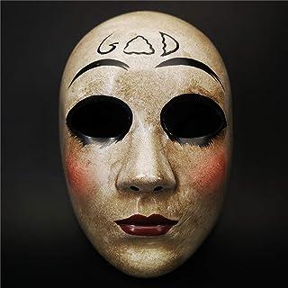 CCUFO Máscara Cruzada y máscara de Dios para Disfraz de Halloween, máscara de Purga de Horror de la película de la anarquía, Traje Unisex para Adultos y niños