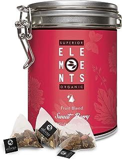 alveus® Superior Organic Elements (Sweet Berry, Mezcla de Fruta Orgánico, sabor Frutos del Bosque, Lata con 15 bolsitas piramidal)