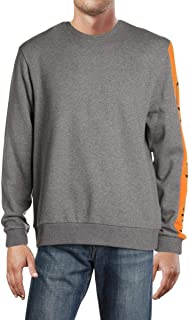Calvin Klein Mens Logo Long Sleeves Crew Sweatshirt