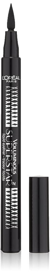 L'Oreal Paris Voluminous Superstar Liquid Eyeliner Pen, Black [202] 0.056 oz