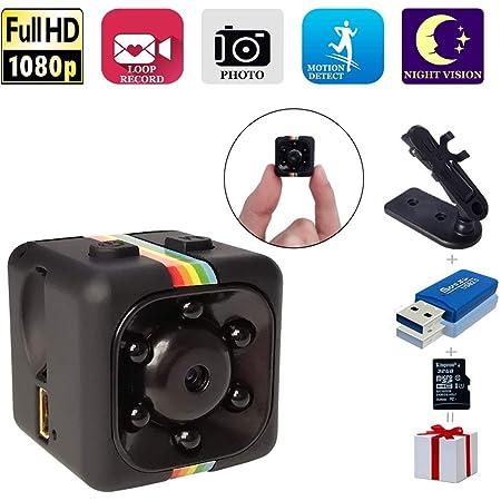 Mini Kameras1080p Hd 32g Drahtlose Überwachungskameras Für Die Sicherheit Zu Hause Mit Nachtsicht Kleiner Kindermädchen Kamera Bewegungserkennung Mit Einer 32g Sd Karte Für Drinnen Draußen Baumarkt
