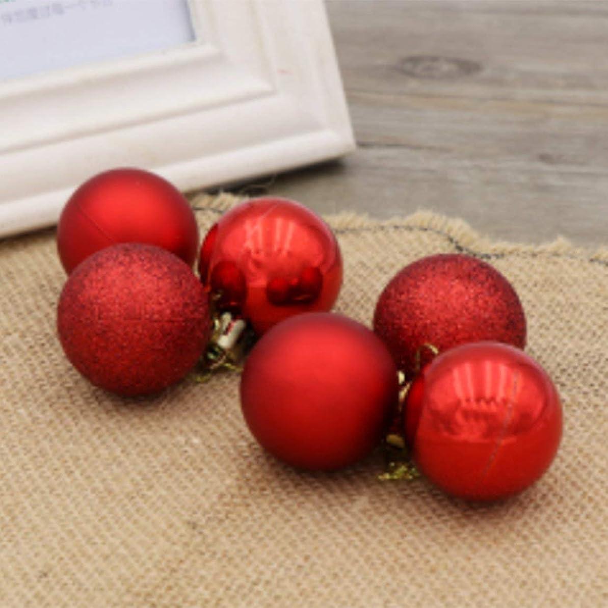 急襲パン階下24pcsクリスマスデコレーションボール3cm / 4cm / 6cm / 8cm / 10cmバレルカラーボールプラスチックメッキボールクリスマスツリーデコレーション-