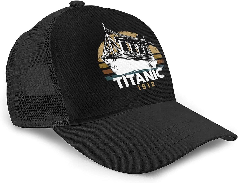 RVSAPK Titanic Sinking 1912 Man's Woman Baseball Cap Baseball Cap Mesh