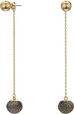 Rebecca Minkoff - High Shine Pompom Threader Earrings