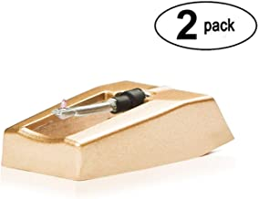 Record Player Needle Replacement w/ Diamond Tip - 2 -Pack - Compatible with Crosley, Jensen, Pyle, Detrola & More - Superior Sound - Protect Your Vinyl - 3000Hrs of Playback – Quick Install