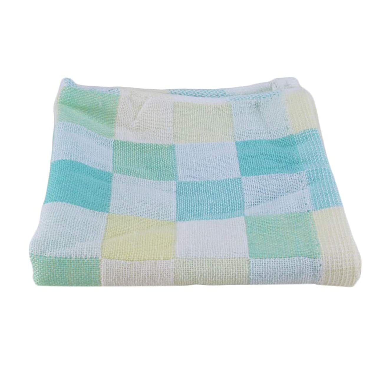 意図するレンダー簡潔なMaxcrestas - 28*28cm Square Towels Cotton gauze Plaid Towel Kids Bibs Daily Use Hand Face Towels for Kids