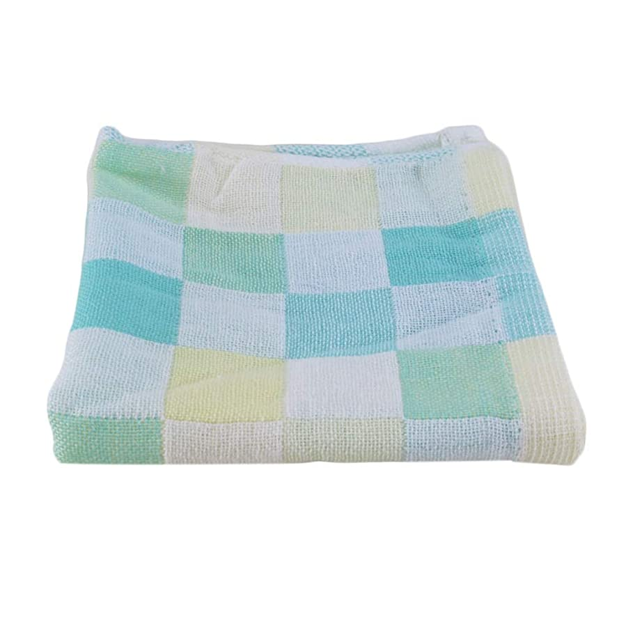 強風漁師みすぼらしいMaxcrestas - 28*28cm Square Towels Cotton gauze Plaid Towel Kids Bibs Daily Use Hand Face Towels for Kids