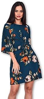 AX Paris Women's Floral Tie Waist Dress