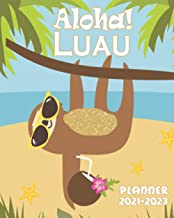 Aloha Luau Planner 2021-2023: Three Year Monthly Calendar, Agenda, Diary | Organizer with Vision Boards, To Do Lists, Note...
