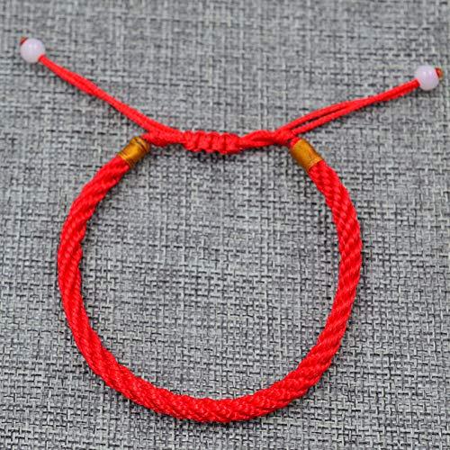 Fnito Pulsera Pulseras afortunadas de Brazalete de Cuerda roja para Hombres en la Pierna para Mujer Línea de Cuerda de cordón Joyería Hecha a Mano para Regalo de Amante de Pareja Regalo