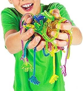 "Tytroy Vinyl Glitter Sticky Hands 1 1/4"" Kids Birthday Party Favor Goodies Prizes (144)"