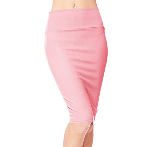 Busy Ladies Dusty Pink Pencil Skirt