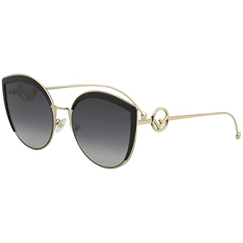 252fde9d90a7 Fendi Women s Round Slight Cat Eye Sunglasses
