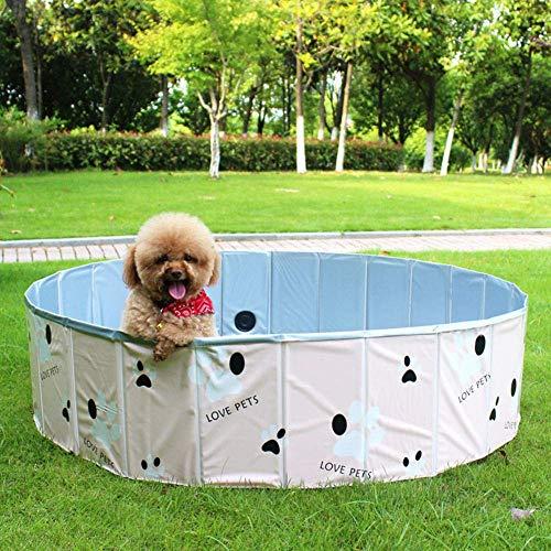 Kinderplanschbecken,Hunde-Planschbecken, PVC-Klappbadewanne für Hunde, Langlebiges Haustier-Schwimmbad-Blue_120 * 30Cm, Hundebecken Faltbares Hundebad für Kinder