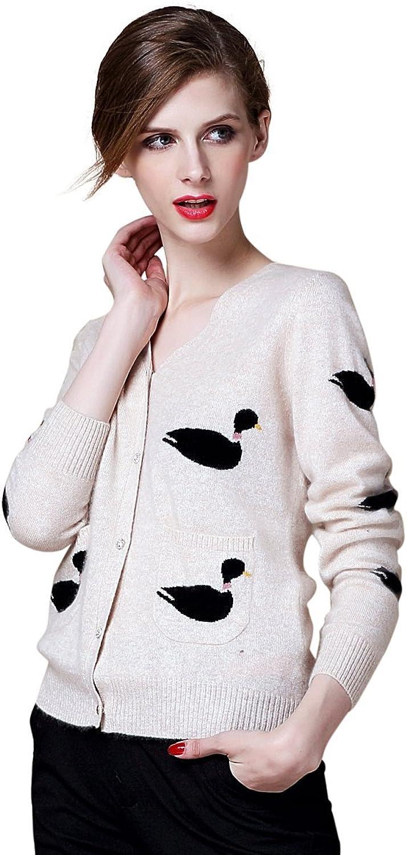 Zhili Women's Cashmere Long Sleeve VNeck Cardigan